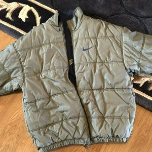VTG 90'S NIKE REVERSIBLE PUFFER JACKET COAT - L